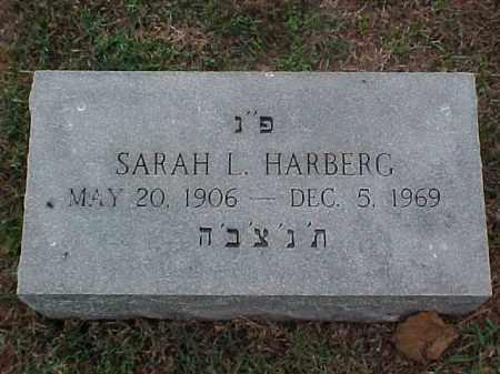 HARBERG, SARAH L - Pulaski County, Arkansas | SARAH L HARBERG - Arkansas Gravestone Photos