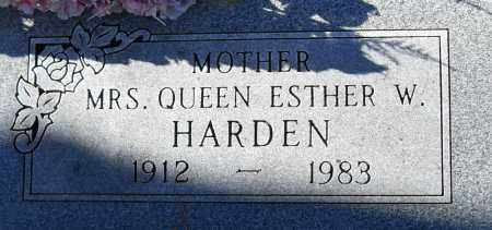 HARDEN, MRS, QUEEN ESTHER W - Pulaski County, Arkansas | QUEEN ESTHER W HARDEN, MRS - Arkansas Gravestone Photos