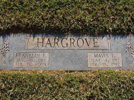 HARGROVE, FRANKLIN E - Pulaski County, Arkansas | FRANKLIN E HARGROVE - Arkansas Gravestone Photos