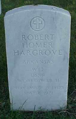 HARGROVE (VETERAN WWII), ROBERT HOMER - Pulaski County, Arkansas   ROBERT HOMER HARGROVE (VETERAN WWII) - Arkansas Gravestone Photos
