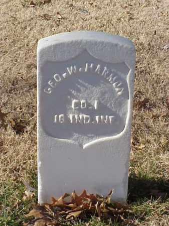HARMON  (VETERAN UNION), GEORGE W - Pulaski County, Arkansas | GEORGE W HARMON  (VETERAN UNION) - Arkansas Gravestone Photos
