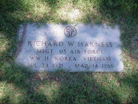 HARNESS (VETERAN 3 WARS), RICHARD W - Pulaski County, Arkansas | RICHARD W HARNESS (VETERAN 3 WARS) - Arkansas Gravestone Photos
