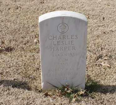 HARPER  (VETERAN WWII), CHARLES LESLIE - Pulaski County, Arkansas   CHARLES LESLIE HARPER  (VETERAN WWII) - Arkansas Gravestone Photos