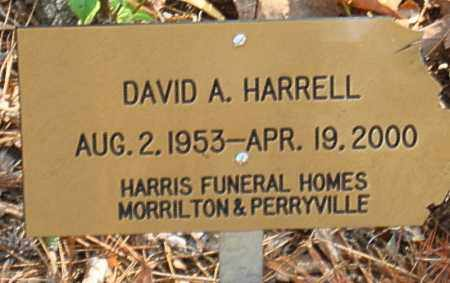 HARRELL, DAVID A - Pulaski County, Arkansas | DAVID A HARRELL - Arkansas Gravestone Photos