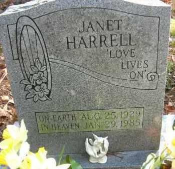 HARRELL, JANET - Pulaski County, Arkansas | JANET HARRELL - Arkansas Gravestone Photos