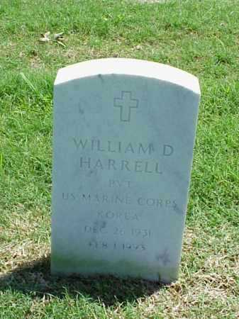 HARRELL (VETERAN KOR), WILLIAM D - Pulaski County, Arkansas | WILLIAM D HARRELL (VETERAN KOR) - Arkansas Gravestone Photos