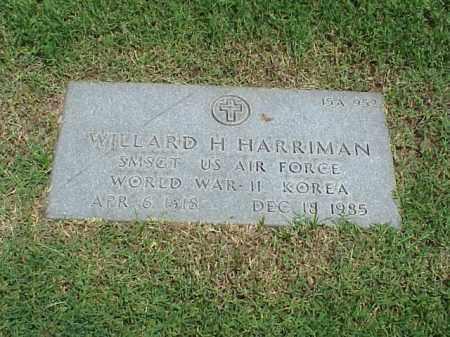 HARRIMAN (VETERAN 2 WARS), WILLARD H - Pulaski County, Arkansas | WILLARD H HARRIMAN (VETERAN 2 WARS) - Arkansas Gravestone Photos