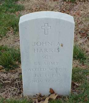 HARRIS  (VETERAN WWII), JOHN A - Pulaski County, Arkansas | JOHN A HARRIS  (VETERAN WWII) - Arkansas Gravestone Photos