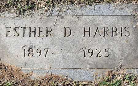 HARRIS, ESTHER D - Pulaski County, Arkansas | ESTHER D HARRIS - Arkansas Gravestone Photos