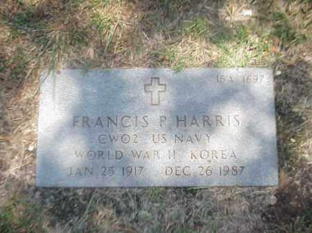 HARRIS (VETERAN 2 WARS), FRANCIS P - Pulaski County, Arkansas   FRANCIS P HARRIS (VETERAN 2 WARS) - Arkansas Gravestone Photos