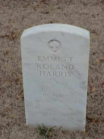 HARRIS (VETERAN WWI), EMMETT ROLAND - Pulaski County, Arkansas | EMMETT ROLAND HARRIS (VETERAN WWI) - Arkansas Gravestone Photos