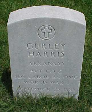 HARRIS (VETERAN WWI), GURLEY - Pulaski County, Arkansas   GURLEY HARRIS (VETERAN WWI) - Arkansas Gravestone Photos