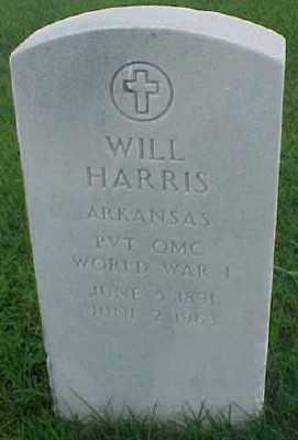 HARRIS (VETERAN WWI), WILL - Pulaski County, Arkansas | WILL HARRIS (VETERAN WWI) - Arkansas Gravestone Photos