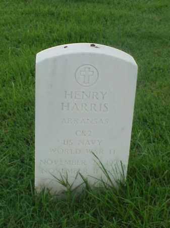 HARRIS (VETERAN WWII), HENRY - Pulaski County, Arkansas   HENRY HARRIS (VETERAN WWII) - Arkansas Gravestone Photos