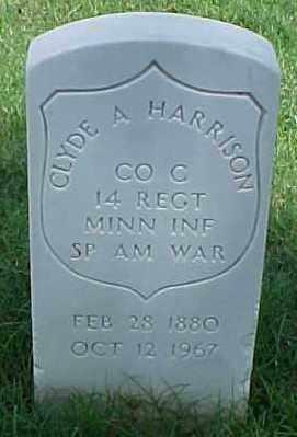 HARRISON (VETERAN SAW), CLYDE A - Pulaski County, Arkansas   CLYDE A HARRISON (VETERAN SAW) - Arkansas Gravestone Photos
