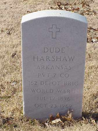 HARSHAW  (VETERAN WWI), DUDE - Pulaski County, Arkansas | DUDE HARSHAW  (VETERAN WWI) - Arkansas Gravestone Photos