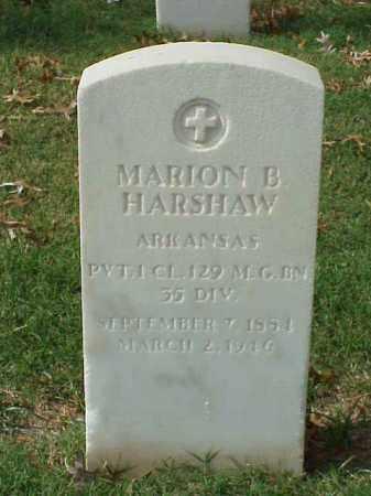 HARSHAW  (VETERAN WWI), MARION B - Pulaski County, Arkansas   MARION B HARSHAW  (VETERAN WWI) - Arkansas Gravestone Photos