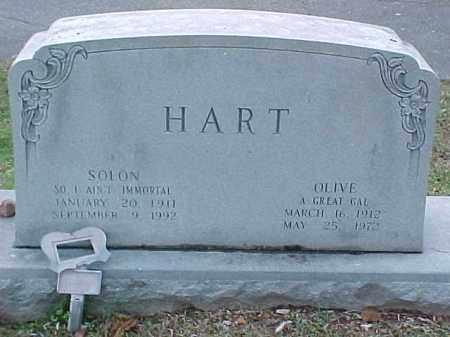 HART, SOLON - Pulaski County, Arkansas | SOLON HART - Arkansas Gravestone Photos