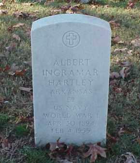 HARTLEY  (VETERAN WWI), ALBERT INGRAMAR - Pulaski County, Arkansas | ALBERT INGRAMAR HARTLEY  (VETERAN WWI) - Arkansas Gravestone Photos