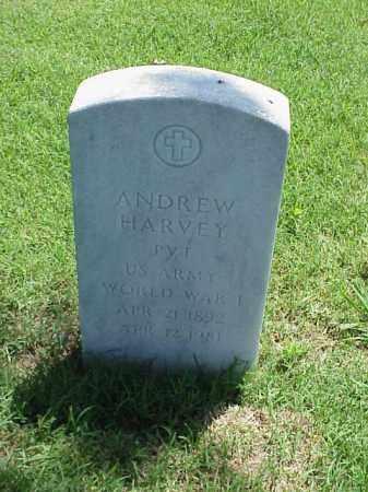 HARVEY (VETERAN WWI), ANDREW - Pulaski County, Arkansas | ANDREW HARVEY (VETERAN WWI) - Arkansas Gravestone Photos