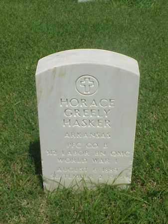 HASKER (VETERAN WWI), HORACE GREELY - Pulaski County, Arkansas | HORACE GREELY HASKER (VETERAN WWI) - Arkansas Gravestone Photos