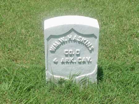 HASKINS (VETERAN UNION), WILLIAM W - Pulaski County, Arkansas | WILLIAM W HASKINS (VETERAN UNION) - Arkansas Gravestone Photos