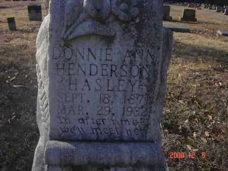 HASLEY, DONNIE ANN - Pulaski County, Arkansas | DONNIE ANN HASLEY - Arkansas Gravestone Photos