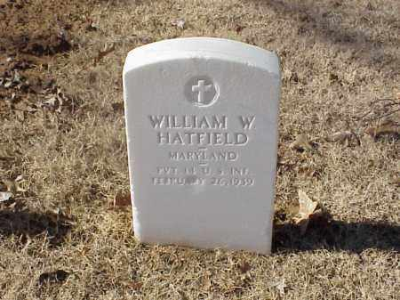 HATFIELD  (VETERAN SAW), WILLIAM W - Pulaski County, Arkansas | WILLIAM W HATFIELD  (VETERAN SAW) - Arkansas Gravestone Photos