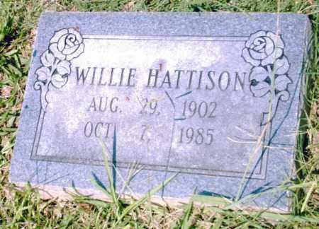 HATTISON, WILLIE - Pulaski County, Arkansas   WILLIE HATTISON - Arkansas Gravestone Photos