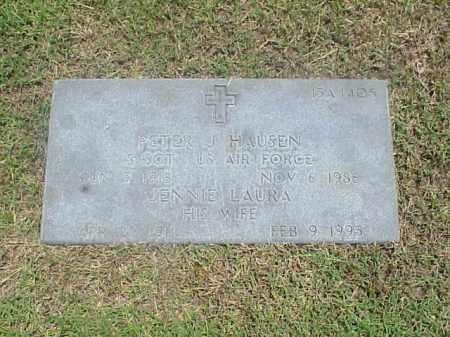 HAUSEN (VETERAN 2 WARS), PETER J - Pulaski County, Arkansas   PETER J HAUSEN (VETERAN 2 WARS) - Arkansas Gravestone Photos