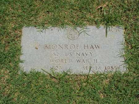 HAW (VETERAN WWII), MONROE - Pulaski County, Arkansas | MONROE HAW (VETERAN WWII) - Arkansas Gravestone Photos