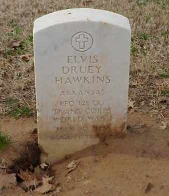 HAWKINS  (VETERAN WWI), ELVIS DRUEY - Pulaski County, Arkansas | ELVIS DRUEY HAWKINS  (VETERAN WWI) - Arkansas Gravestone Photos