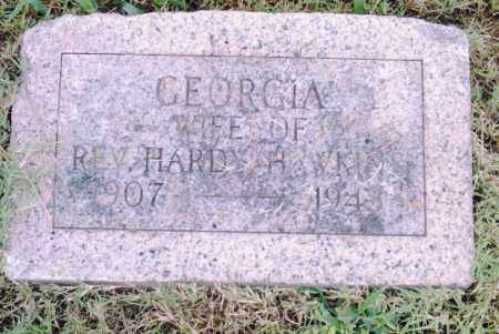 HAWKINS, GEORGIA - Pulaski County, Arkansas | GEORGIA HAWKINS - Arkansas Gravestone Photos