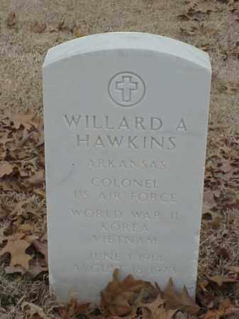 HAWKINS (VETERAN 3 WARS), WILLARD A - Pulaski County, Arkansas   WILLARD A HAWKINS (VETERAN 3 WARS) - Arkansas Gravestone Photos