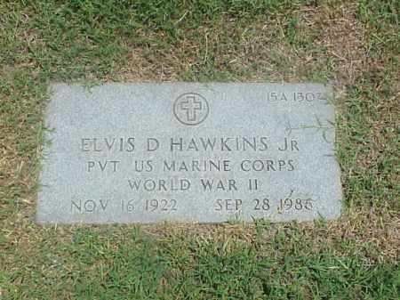 HAWKINS, JR (VETERAN WWII), ELVIS D - Pulaski County, Arkansas   ELVIS D HAWKINS, JR (VETERAN WWII) - Arkansas Gravestone Photos