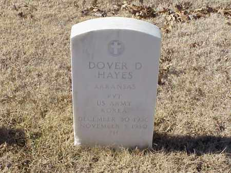 HAYES  (VETERAN KOR), DOVER D - Pulaski County, Arkansas   DOVER D HAYES  (VETERAN KOR) - Arkansas Gravestone Photos