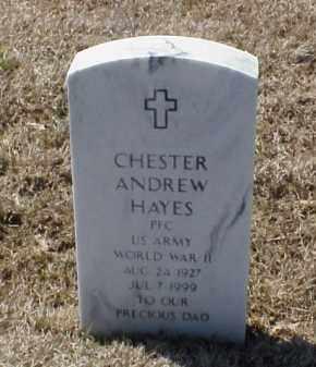 HAYES (VETERAN WWII), CHESTER ANDREW - Pulaski County, Arkansas | CHESTER ANDREW HAYES (VETERAN WWII) - Arkansas Gravestone Photos