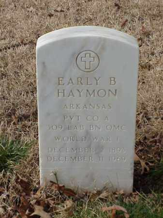 HAYMON  (VETERAN WWI), EARLY B - Pulaski County, Arkansas | EARLY B HAYMON  (VETERAN WWI) - Arkansas Gravestone Photos