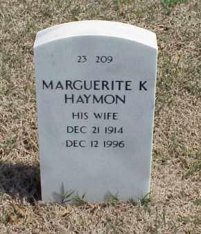 HAYMON, MARGUERITE K - Pulaski County, Arkansas | MARGUERITE K HAYMON - Arkansas Gravestone Photos