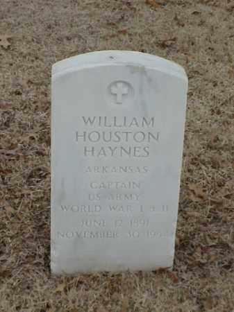 HAYNES (VETERAN 2 WARS), WILLIAM HOUSTON - Pulaski County, Arkansas   WILLIAM HOUSTON HAYNES (VETERAN 2 WARS) - Arkansas Gravestone Photos