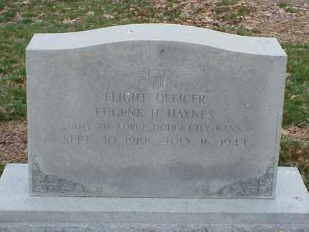 HAYNES (VETERAN), EUGENE H - Pulaski County, Arkansas | EUGENE H HAYNES (VETERAN) - Arkansas Gravestone Photos