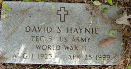 HAYNIE (VETERAN WWII), DAVID S - Pulaski County, Arkansas | DAVID S HAYNIE (VETERAN WWII) - Arkansas Gravestone Photos