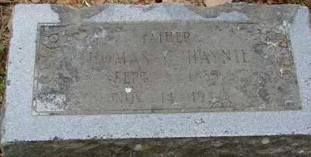 HAYNIE, THOMAS C. - Pulaski County, Arkansas   THOMAS C. HAYNIE - Arkansas Gravestone Photos