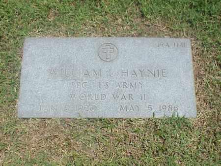 HAYNIE (VETERAN WWII), WILLIAM L - Pulaski County, Arkansas | WILLIAM L HAYNIE (VETERAN WWII) - Arkansas Gravestone Photos