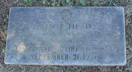 HEAD (VETERAN), BEN F - Pulaski County, Arkansas   BEN F HEAD (VETERAN) - Arkansas Gravestone Photos