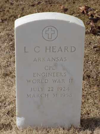 HEARD  (VETERAN WWII), L C - Pulaski County, Arkansas   L C HEARD  (VETERAN WWII) - Arkansas Gravestone Photos