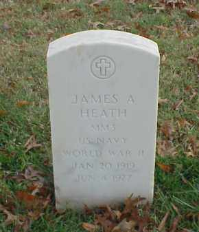 HEATH  (VETERAN WWII), JAMES A - Pulaski County, Arkansas | JAMES A HEATH  (VETERAN WWII) - Arkansas Gravestone Photos