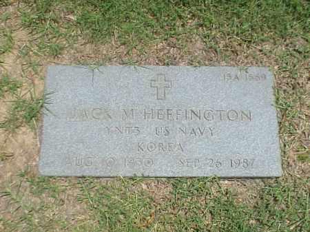 HEFFINGTON (VETERAN KOR), JACK MARSHALL - Pulaski County, Arkansas | JACK MARSHALL HEFFINGTON (VETERAN KOR) - Arkansas Gravestone Photos