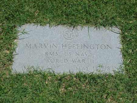 HEFFINGTON (VETERAN WWII), MARVIN - Pulaski County, Arkansas   MARVIN HEFFINGTON (VETERAN WWII) - Arkansas Gravestone Photos