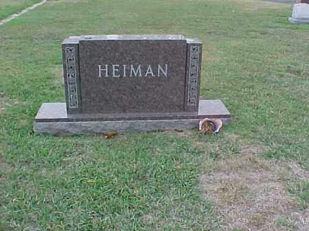HEIMAN FAMILY STONE,  - Pulaski County, Arkansas |  HEIMAN FAMILY STONE - Arkansas Gravestone Photos